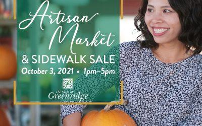 Upcoming Event: Artisan Market & Sidewalk Sale